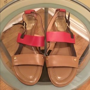 Tahari Aura Red/Tan/Brown Sandals
